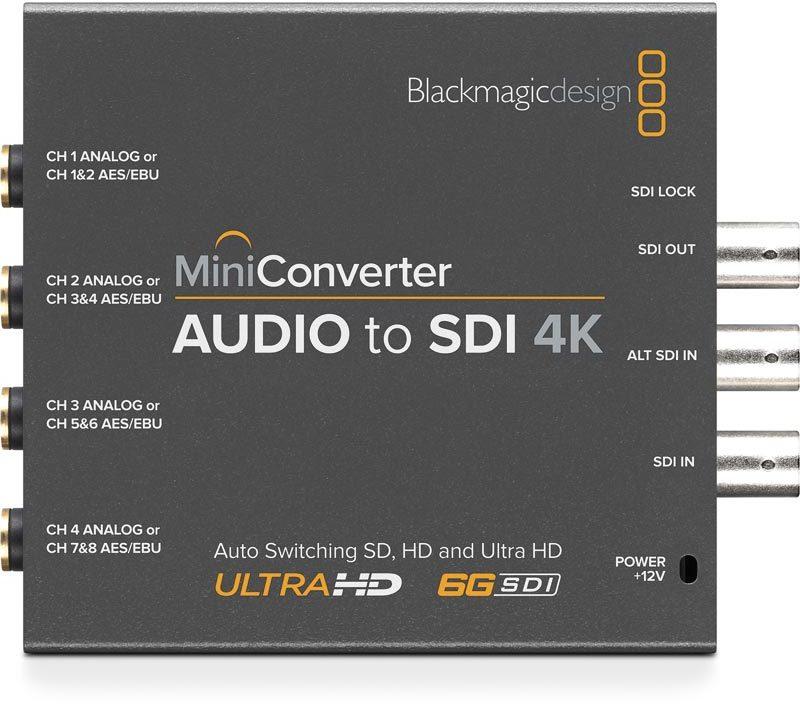 Blackmagic Design Mini Converter Audio To Sdi 4k Rock Tech Sound Lights Video